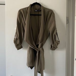 Khaki Blazer from Zara